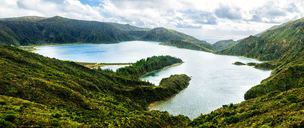 Azores, Sao Miguel, Fire lake formed in the crater of Agua de Pau - KIJF01916