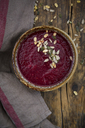 Beetroot soup with pumpkin and sunflower seeds - LVF06851