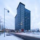 Office building against overcast sky at dusk - FOLF07379