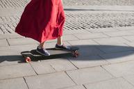 Teenage girl on longboard - FOLF08020