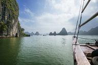 Cropped image of boat at Halong Bay - CAVF34208