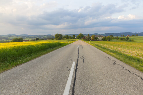 Austria, Upper Austria, Muehlvierlel, empty country road - AIF00473