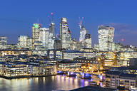 UK, London, cityscape and Thames river panoramic view at dusk - WPEF00157