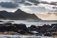 Norway, Lofoten Islands, Gravdal, coast and sea - WVF00941