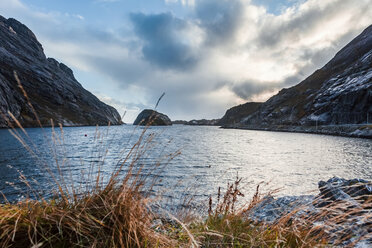 Norway, Lofoten Islands, Nusfjord, coast and sea - WVF00950