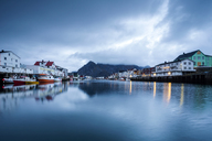 Norway, Lofoten Islands, Henningsvaer in the evening - WVF01002