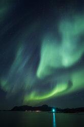 Norway, Lofoten Islands, Eggum, Northern lights - WVF01081
