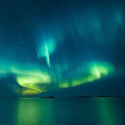 Norway, Lofoten Islands, Eggum, Northern lights - WVF01084