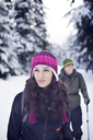 Couple hiking in forest - CAVF35285