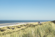Germany, Spiekeroog, view to sea and beach from dunes - DWIF00913