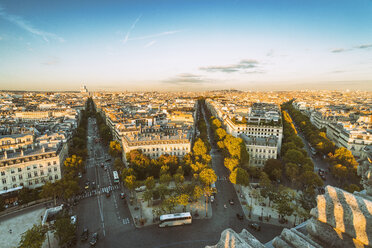 France, Paris, view to 1th arrondissement  from above - TAMF01032