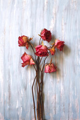 Still life, dried roses on wood - JTF00974
