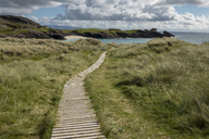 United Kingdom, Scotland, Bay Sutherland, Assynt, Clachtoll, footbridge trough dunes - LBF01886