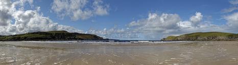 United Kingdom, Scotland, Highland, Sutherland, Bettyhill, panoramic view of beach - LBF01901