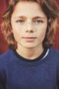 Portrait of confident teenage boy in back yard - MASF02113