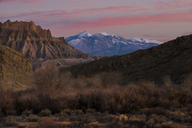Scenic view of Capitol Reef National Park against dramatic sky during sunset - CAVF35598