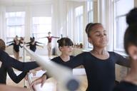 Ballerinas practicing in studio - CAVF36102