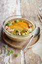 Glass bowl of Chia Pudding with Kaki - EVGF03345