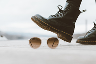 Boots and sunglasses, close-up - OCAF00202