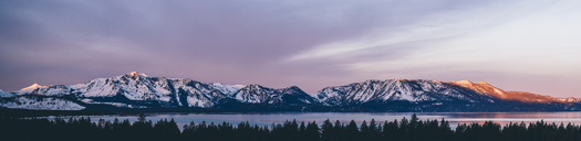 Panoramic view of snowcapped mountains against sky - CAVF36952