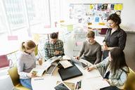 Professor training students in university classroom - MASF04065
