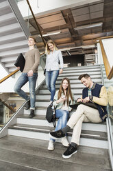 Low angle view of friends at campus - MASF04295