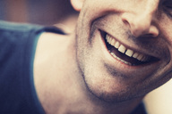 Close-up of happy businessman outdoors - MASF04352