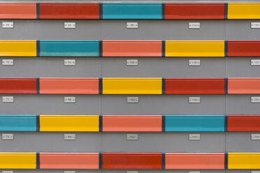 Colorful mail boxes with numbers - KLR00575