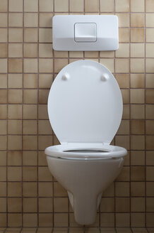Toilet with open toilet lid - CRF02786