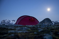Tent on mountain at night - MASF05362