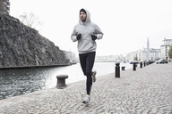 Man jogging at canal side - MASF05562
