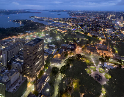 Australia, New South Wales, Sydney, cityscape at night - MKFF00339
