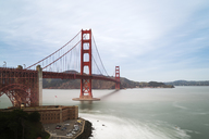 USA, California, San Francisco, Golden Gate Bridge seen from Fort Point, long exposure - MKFF00348