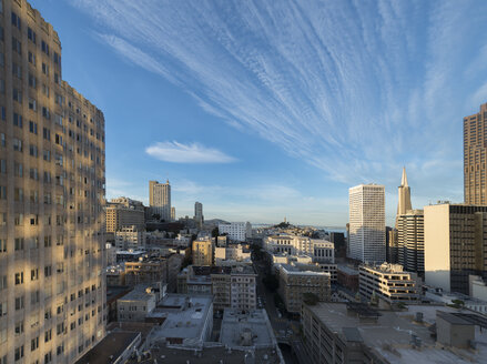 USA, California, San Francisco, Chinatown, Financial District, Coit Tower - MKFF00354