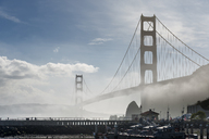 USA, California, San Francisco, Golden Gate Bridge and fog, seen from Horseshoe Bay - MKFF00363