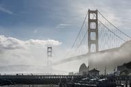 USA, California, San Francisco, Golden Gate Bridge and fog, seen from Horseshoe Bay - MKFF00363