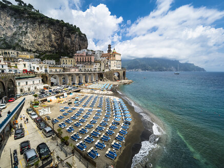 Italy, Campania, Amalfi Coast, lido of Atrani - AMF05697