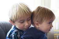 Cute brothers relaxing at home - CAVF45763