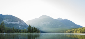 Panoramic view of lake against mountains - CAVF47334