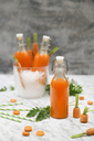 Refreshing carrot juice on marble - RTBF01191