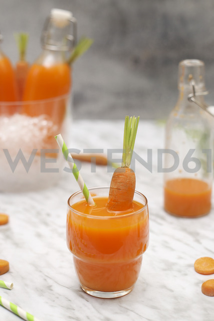 Refreshing carrot juice on marble - RTBF01194
