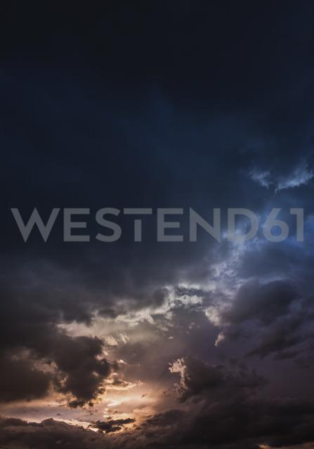 Austria, Hoersching, dark clouds after thunderstorm - EJWF00871