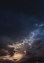 Austria, Hoersching, dark clouds after thunderstorm - EJWF00871