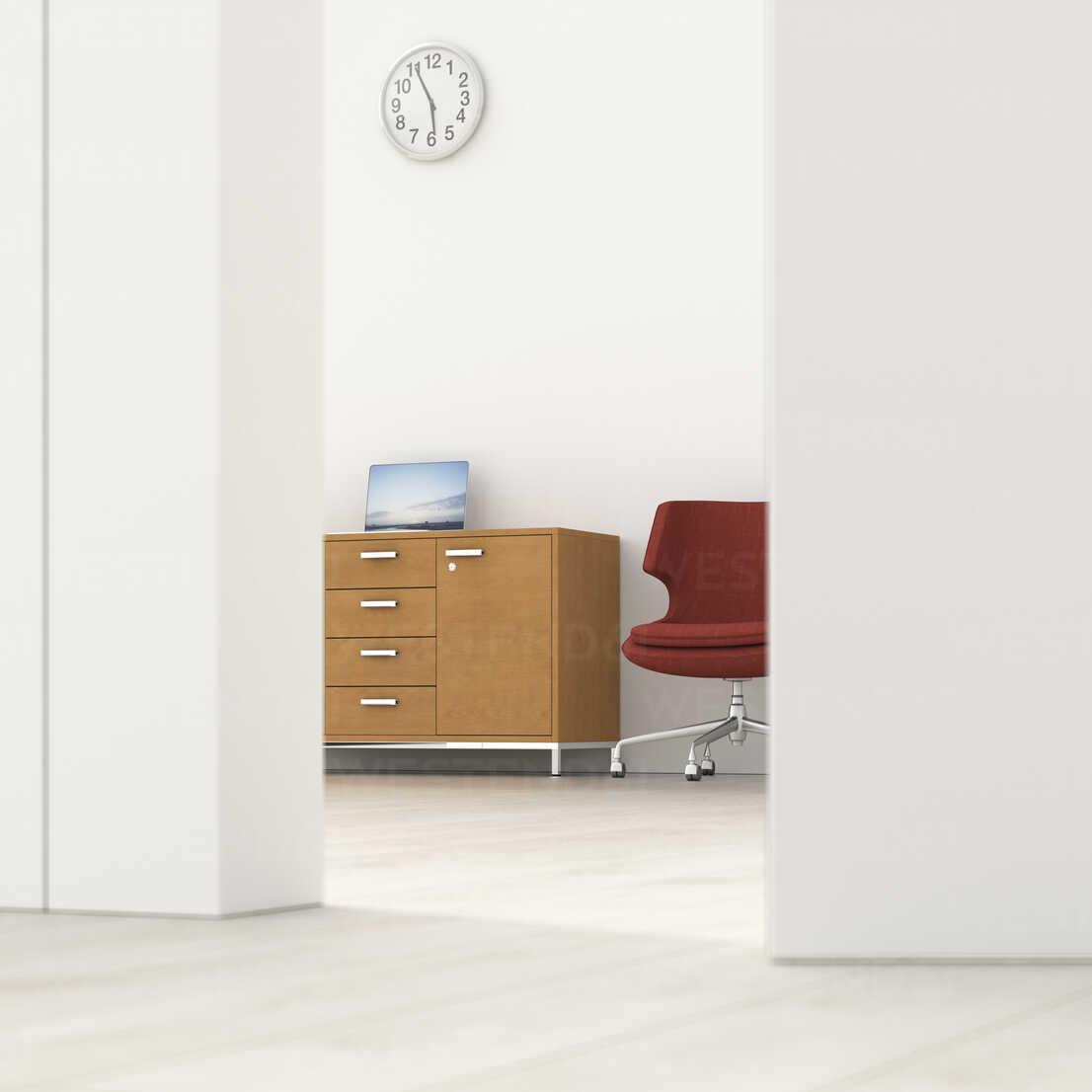 Office behind ajar door, 3d rendering - UWF01374 - HuberStarke/Westend61