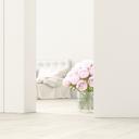 Bedroom with bunch of roses behind ajar door, 3d rendering - UWF01377