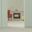 Old-fashioned living room behind ajar door, 3d rendering - UWF01386