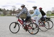 Three friends biking - MASF06930