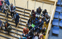 Overhead view of conference audience - CAIF20450