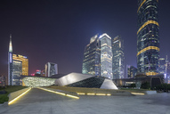 China, Guangzhou, opera house at night - SPP00009