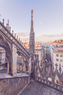 Italy, Lombardy, Milan, Milan Cathedral at sunset - TAMF01043